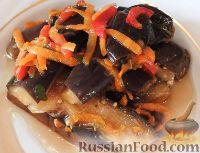 Фото к рецепту: Квашеные баклажаны по-корейски