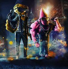 spongebob patrick Wallpaper by susbulut - ea - Free on ZEDGE™ Deadpool Wallpaper, Cartoon Wallpaper, Graffiti Wallpaper, Avengers Wallpaper, Dope Cartoons, Dope Cartoon Art, Cartoon Kunst, Comic Kunst, Comic Art