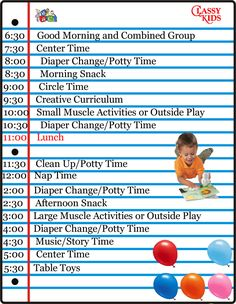 child care schedule template | ... is a checklist for you when ...