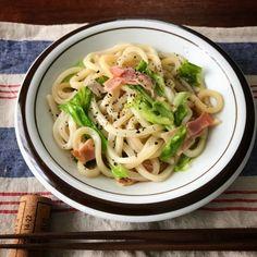 【もうこれ、今までで一番簡単かもしれない】オススメです!!つゆ油うどん | 山本ゆりオフィシャルブログ「含み笑いのカフェごはん『syunkon』」Powered by Ameba Desert Recipes, Gourmet Recipes, Cooking Recipes, Healthy Plate, Food Menu, How To Cook Pasta, Japanese Food, No Cook Meals, Food Photo