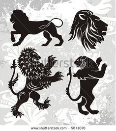 vector lions - stock vector