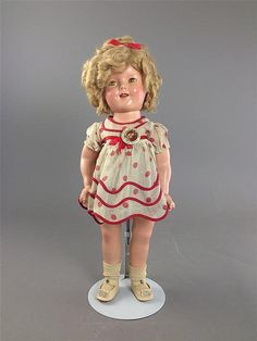 "18"" IDEAL COMPOSITION SHIRLEY TEMPLE ""STAND UP AND - by Apple Tree Auction Center"