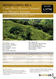 Costa Rica Rva Natural con Manuel Antonio.13 días desde 1979 € tax incl. del 27 de Ago al 10 Dic - http://zocotours.com/costa-rica-rva-natural-con-manuel-antonio-13-dias-desde-1979-e-tax-incl-del-27-de-ago-al-10-dic/