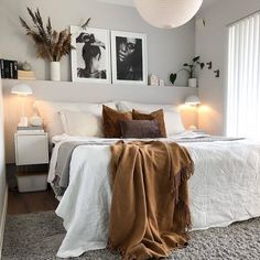 Home Interior Design .Home Interior Design Dream Bedroom, Home Bedroom, Modern Bedroom, Bedroom Furniture, Fantasy Bedroom, Bedroom Ideas, Master Bedroom, Bedroom Designs, Grey Wall Bedroom