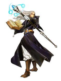 m Elf Wizard Robes Staff Magic Book