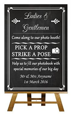 A5 Vintage Chalkboard Photo Booth Personalised Wedding Sign Poster Fingerprint Designs http://www.amazon.co.uk/dp/B00T9Z1EG6/ref=cm_sw_r_pi_dp_2rUcwb09313AS
