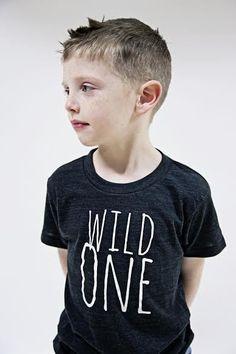 Wild One Modern Kids Tee from threelittlenumbers $28