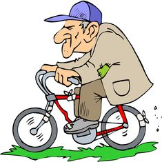 Man On Bicycle Clipart - Clipart Suggest Cartoon Images, Cartoon Drawings, Old Man Cartoon, Art Impressions Stamps, Family Illustration, Free Cartoons, Bike Art, Mail Art, Old Men