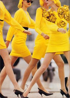 Neil Kirk for American Vogue, January 1988. Clothing by Sonia Rykiel.