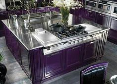 The purplest kitchen counters ever!