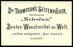 German Tradecard - Dr Thompson's Washing Powder | Flickr - Photo Sharing!