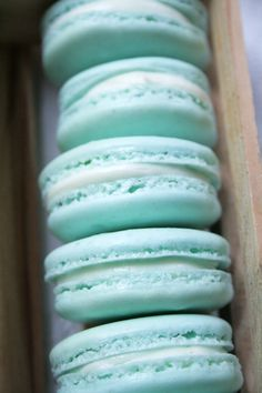 [Beams of Grace Christening] And what festivity is complete without coordinating macarons? (via and cute)