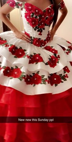 red charro dress quinceaños - Source by - Mariachi Quinceanera Dress, Mexican Quinceanera Dresses, Pretty Quinceanera Dresses, Quinceanera Decorations, Quinceanera Party, Quincenera Dresses White, Sparkly Dresses, Bridesmaid Dresses, Xv Dresses