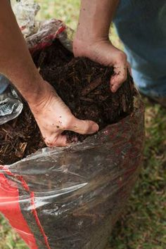 Preserve potting soil with a zip tie: Keep moisture—and, potentially, mold—out of an opened bag of potting soil by cinching the top closed with a zip tie.