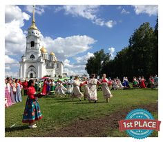"1st Place, Local Culture and Life: Jim Labbe, Russia  ""Graduation Festival (Выпускной фестиваль) in Vladimir, Russia in front of the Assumption Cathedral (Успенский собор). June 2014."""