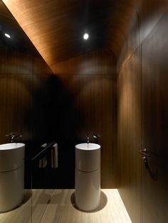 minimal powder room