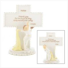 Day And Night Prayer Cross (Item Sweet and tender child's prayer cross is a spiritual delight! Each side contains a very special prayer, asking the Lord to watch over your beloved little one by both day and night. x 2 x high. Special Prayers, Special Day, Engraved Gifts, Personalized Gifts, Love Gifts For Her, Spiritual Decor, Night Prayer, First Communion Gifts, Inspirational Prayers
