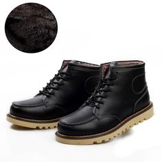 Free shipping 2014 new men's winter warm high-top shoes fashion high quality leather inside Victoria in plush 6.5-9.5
