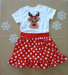 Christmas Set  Christmas Outfit  Baby Girl Christmas by LoopsyBaby, $30.00