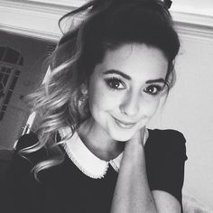 'I curled my hair and did my makeup nice. It was the perfect selfie opportunity. Not gonna lie. Haha' - Zoe Sugg