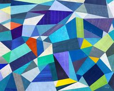Blue Geometric Print by twoems on Etsy, $26.00