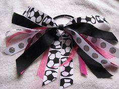 Black and Pink Soccer Girl Pony O by rbwebb02 on Etsy, $4.00