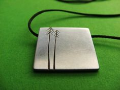 Small Pine Tree Pendant in Sterling Silver by ashhilton on Etsy, $170.00