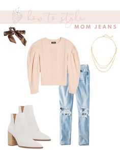 How to Wear Mom Jeans without Looking Frumpy | Strawberry Chic Casual Fall Outfits, Cool Outfits, Mom Jeans Outfit, Fashion 2020, Affordable Fashion, Instagram Fashion, Boyfriend Jeans, Autumn Winter Fashion, Womens Fashion