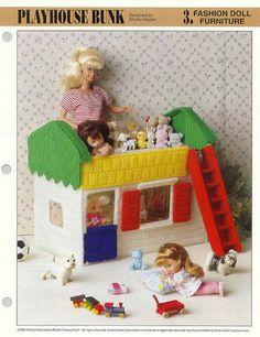 Fashion Doll Furniture Plastic Canvas Pattern Sheet Leaflet Assorted Choice