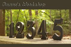 4 Wedding Table Numbers Wooden Wedding reception by DuanesWorkshop, $66.00