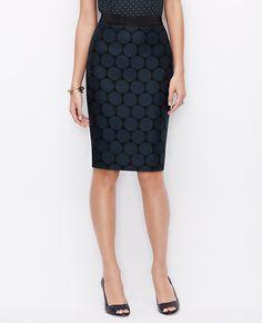 Tall Dot Jacquard Pencil Skirt