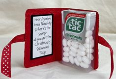 Tic-tacks project. Haha, I've got to do this next time.