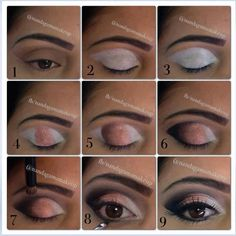 Eye Make up tutorial step-by-step natural night look Love Makeup, Simple Makeup, Makeup Inspo, Makeup Inspiration, Makeup Tips, Hair Makeup, How To Make Hair, Eye Make Up, All Things Beauty
