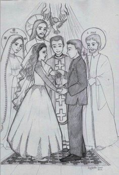 Matrimonio Catolico Dibujo : Las 170 mejores imágenes de sacramentos en 2019 bible catholic