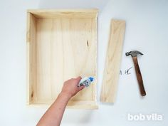 DIY Shadow Box - Step 5 Shadow Box Picture Frames, Wood Shadow Box, Shadow Box Display Case, Diy Wood Projects, Wood Crafts, Woodworking Projects, Bandsaw Projects, Woodworking Books, Woodworking Joints