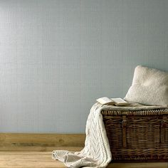 Sky Blue Tweed Wallpaper - Fabric Wall Coverings by Graham Brown Grey Wallpaper Designs, Grey Textured Wallpaper, Silver Wallpaper, Bedroom Wallpaper Sky, Fabric Covered Walls, Graham Brown, Blue Wallpapers, Interior Paint, Home Living Room