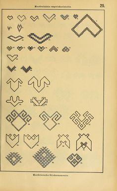 Mordvalaisten pukuja kuoseja. Trachten und Muster der Mordvinen Costumes and patterns of Mordvinians (153 of 638)