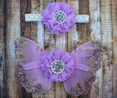 Fields of Lavender Butterfly Wing Set Newborn by MySweetPeaCouture, $22.95