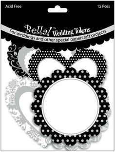 Wedding Tokens Foiled Cardstock Die-Cuts - Black & White w/Silver