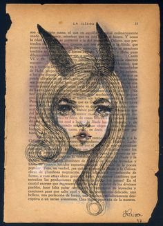 ink + book pages - Clarissa Paiva