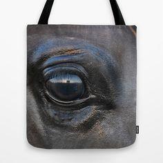 Arabian Horses Eyes 1 Tote Bag by Horseaholic - $22.00