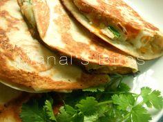 Manal's Bites: كاساديا البطاطا وفكرة فطور اليوم بعجينة البف باستري: اصابع بالمربى وموالح الزعتر