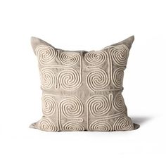 Suez Swirls Pillow in Bone design by Bliss Studio