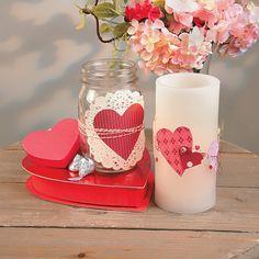 Valentine Mason Jar - OrientalTrading.com