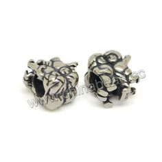 Metal beads, 925 sterling silver European bead in antique silver plating, Two boys, Approx 9.3x8.3x11mm, Hole: Approx 5mm, 10 pieces per bag, Sold by bags