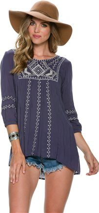 SWELL OLIVIA EMBROIDERED TUNIC Image