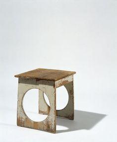 """Painted Wood Stool for the Kitchen at Paul Wittgentstein's Villa """"Bergerhöhe"""", – Interior Design Addict Wooden Furniture, Vintage Furniture, Furniture Design, Into The Woods, Wood Stool, Maker, Vintage Design, Wood Design, Modern Furniture"""