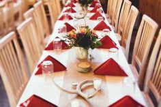 Rustic gold and burgundy wedding tablescape with natural touches | Julia & Chris: Organic Chemistry - A Rock Springs Ranch Wedding | orbridemag.com | Jamie Jones Photography