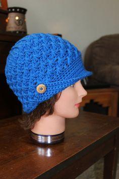 06d501ab3cb Royal Blue Women s Peaked Hat by DenniB1 on Etsy Homemade Things