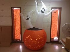Gemmy Prototype Airblown Inflatable Halloween Ghosts in Pumpkin 50111 | eBay